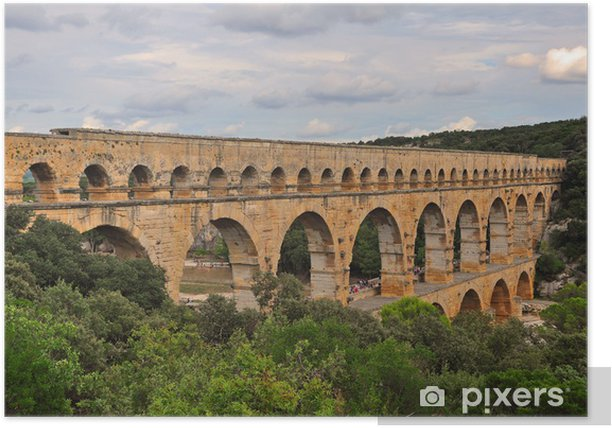 Plakat Pont du Gard Provence Francja Południowa - Europa