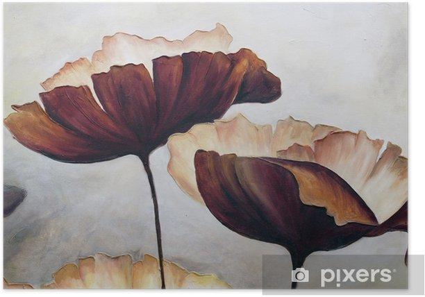 Plakat Poppy malarstwo abstrakcyjne - Hobby i rozrywka