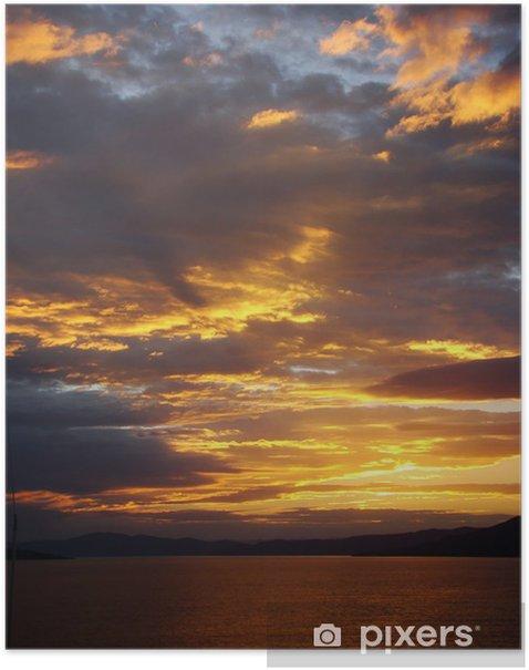 Plakat Por do sol - Niebo