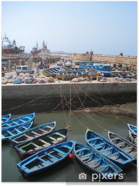 Plakat Port rybacki Essaouira w Maroku - Afryka