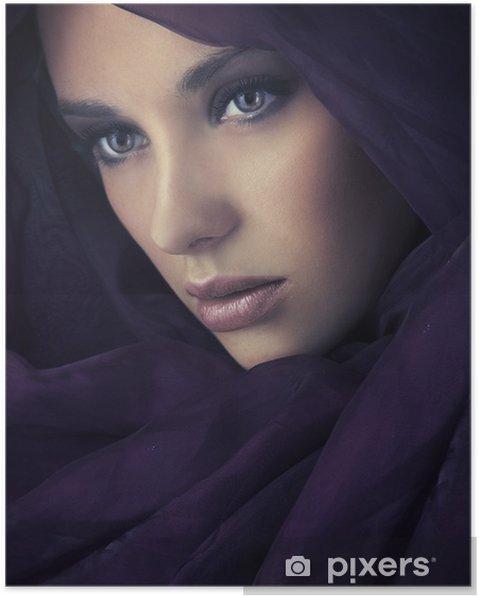 Plakát Portrét mladého krásy - Žena