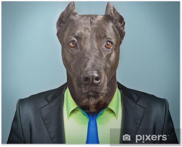 1d255f312a0 Plakát Portrét pes v obleku • Pixers® • Žijeme pro změnu