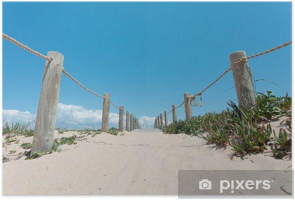 Plakát Portugalsko - Algarve - Faro Island - Praia de Faro - Prázdniny