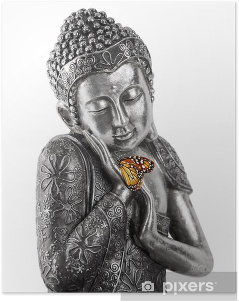 Plakat Posąg Buddy - Religie