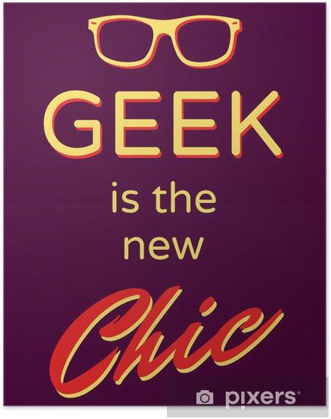 Plakat Poster Geek - Moda