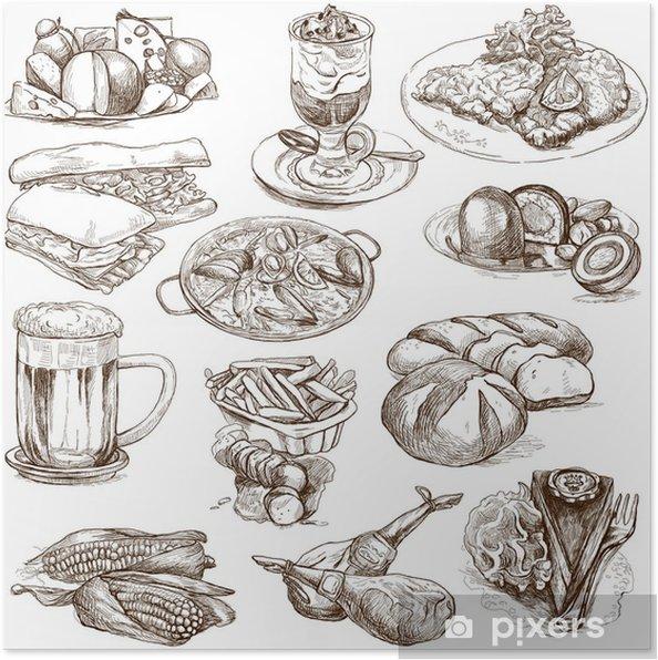 Plakat Potraviny A Napoje Po Celem Svete 2 Plne Velikosti Rucni
