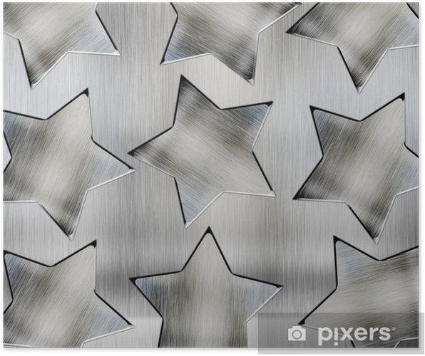 Plakát Pozadí s ocelovými hvězdami - Pozadí