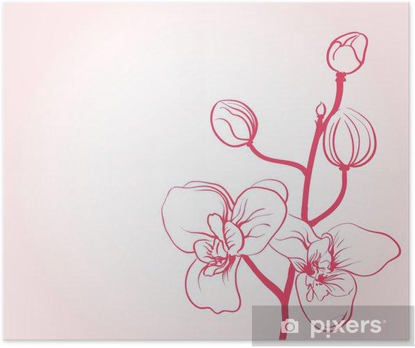 Plakat Pozadi S Sakura Kvetiny Kresleni Pixers Zijeme Pro Zmenu