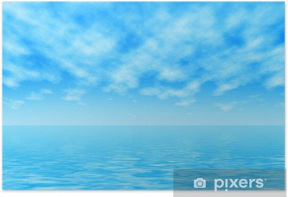 Plakat Poziome morza - Woda