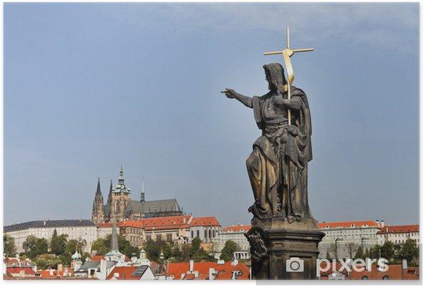 Plakat Praga, Most Karola i Zamku Praskiego Hradczan -