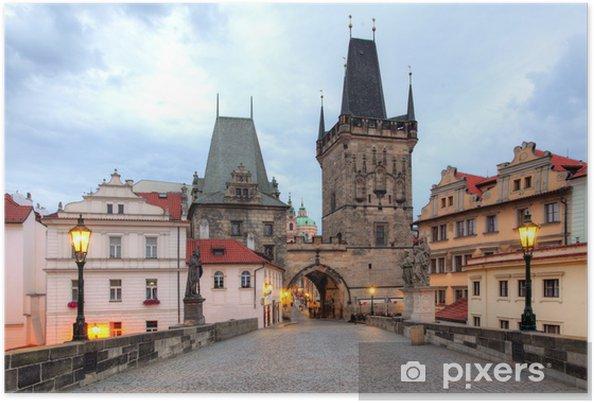 Plakát Praha - Karlův most, Česká republika - Evropská města