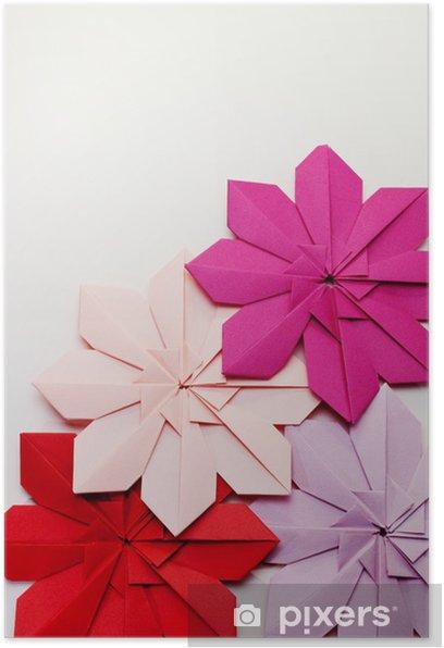 Plakát Přeložte ri papíru - Květina - Umění a tvorba