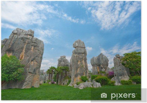 Plakát Přírodní krajina Číny - Kamenná Forest National Park - Asie