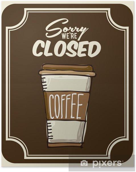 Plakat Projekt kawy - Akcesoria