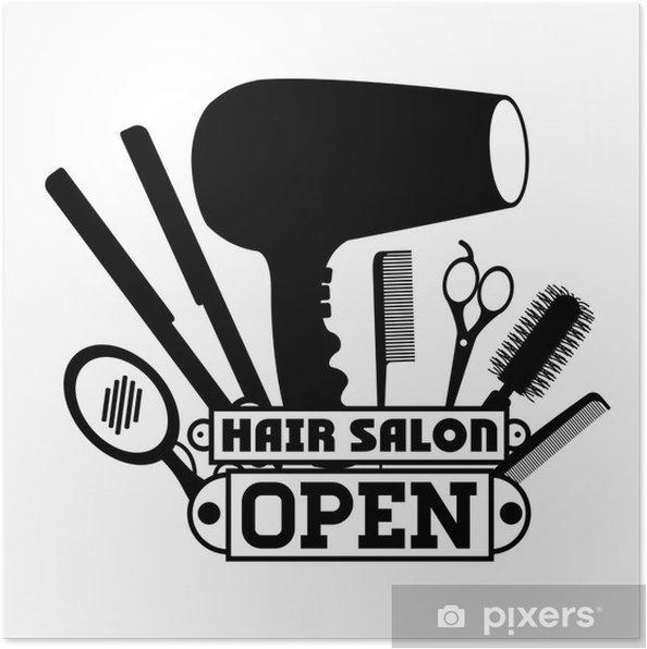 Plakat Projekt Salon Fryzjerski