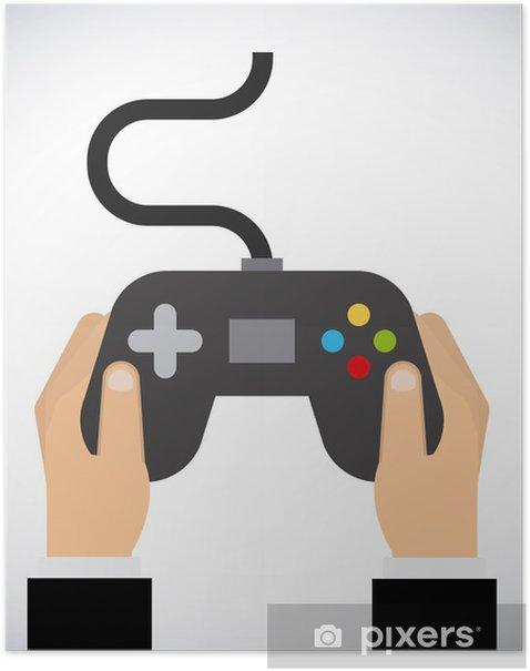 Plakat Projektowanie gier wideo - Elektronika