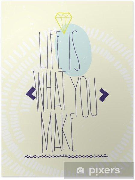 Plakat Proste inspirujące cytaty motywujące plakat z brylantem, Dood - Biznes