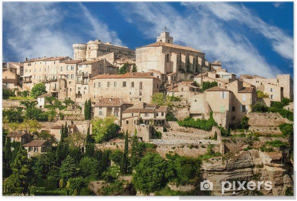 Plakát Provence vesnice Gordes scénický výhled - Témata