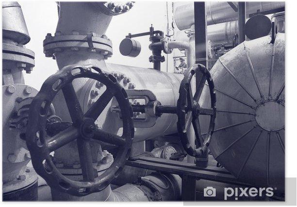 Plakát Průmysl plynu a ropy roury - Industriální a obchodní budovy