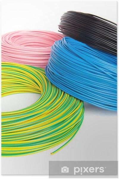 Plakat Przewody elektryczne w cewce - Internet i sieci