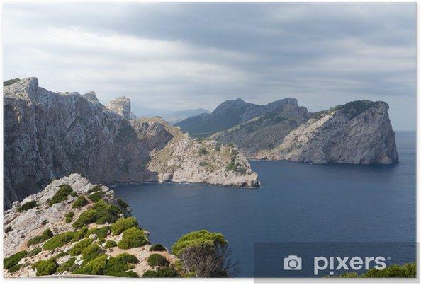 Plakat Przylądek Formentor na Majorce, Baleary, Hiszpania - Europa