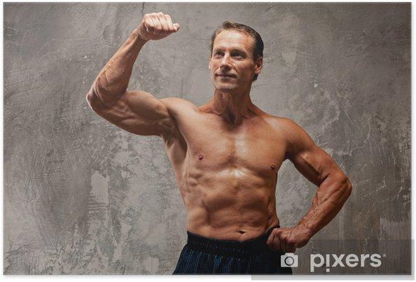 Plakat Przystojny mężczyzna mięśni - Mężczyźni