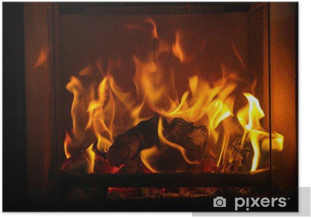 Plakat Przytulny ogień - iStaging