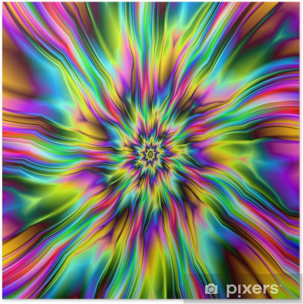 Plakat Psychedelic Supernova -