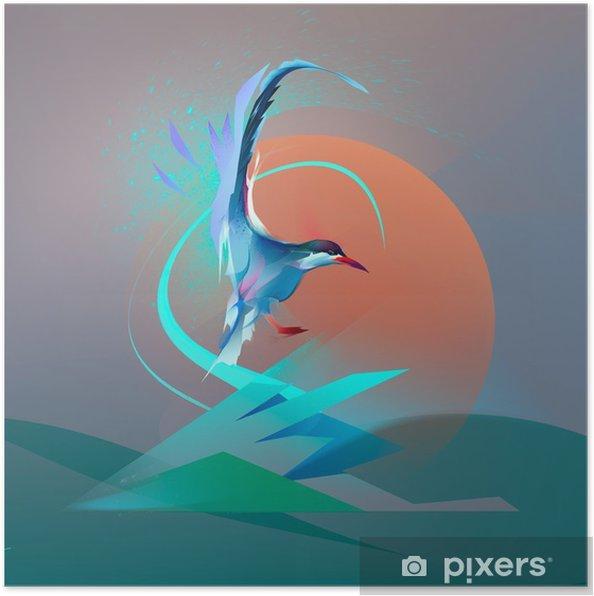 Plakat Ptak Mewa tern - Zwierzęta