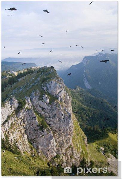 Plakat Ptaki na niebie Chartreuse we francuskich Alpach - Sporty na świeżym powietrzu