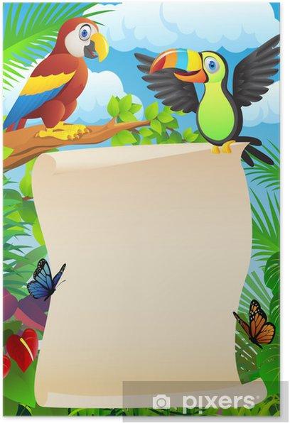 Plakat Ptaki z pusty znak - Ptaki