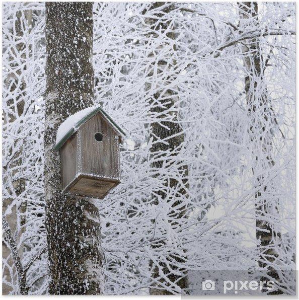 Plakat Ptaszarni w zimie - Pory roku
