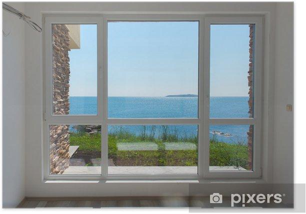 Plakat Pusty pokój z widokiem na morze - Budynki prywatne