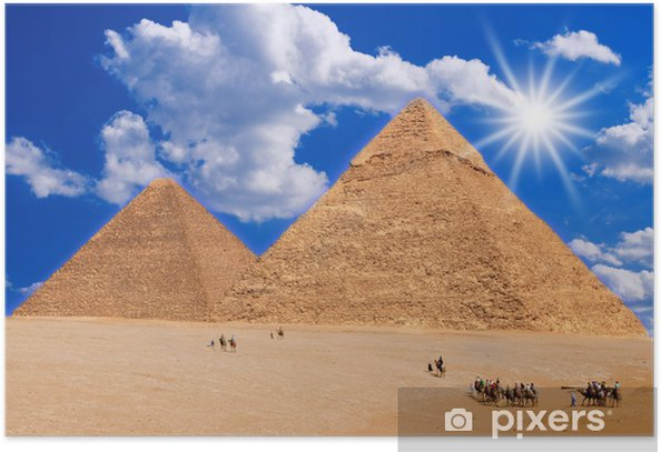 Plakat Pustynia i piramidy - Afryka