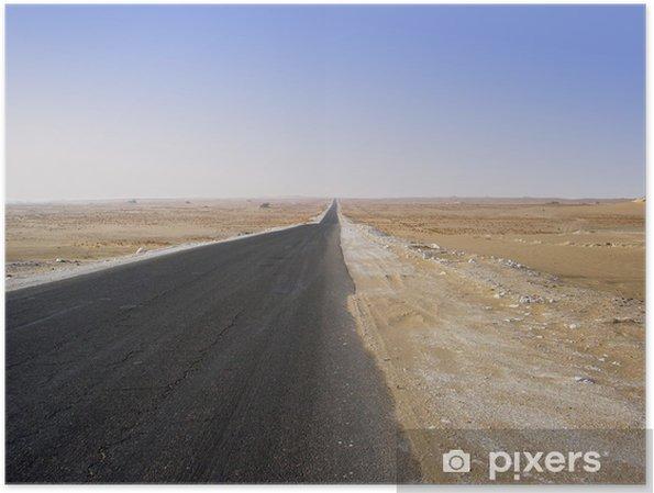 Plakat Pustynia - Infrastruktura