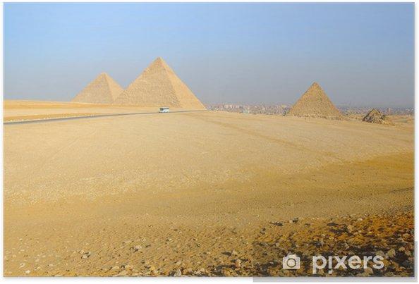 Plakát Pyramidy v Gíze v Egyptě - Afrika