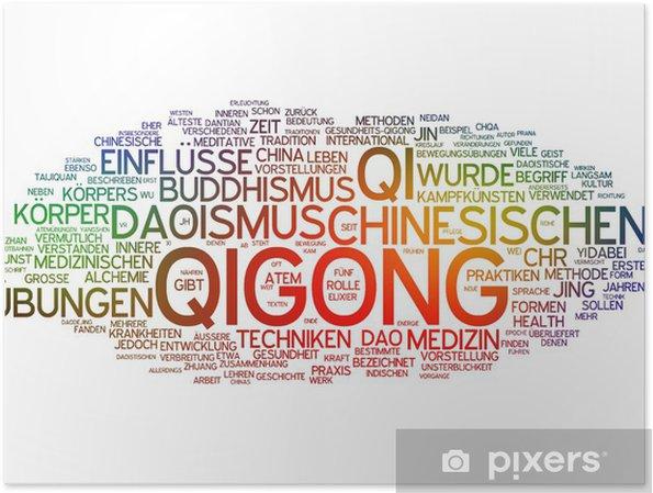 Plakát Qigong - Značky a symboly