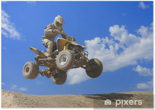 Plakat Quad skok - Sporty ekstremalne