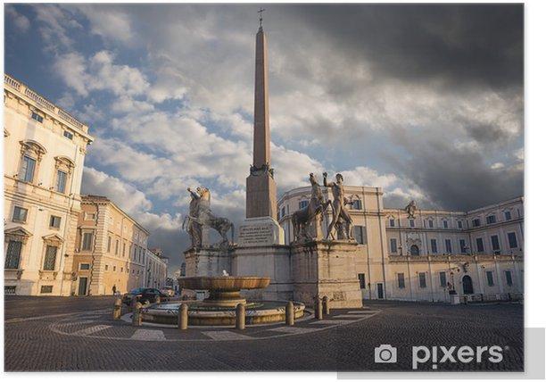 Plakat Quirinale wzgórzu. Rzym. Włochy. - Tematy