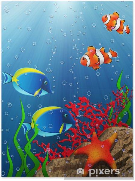 Plakat Rafa koralowa - Tematy