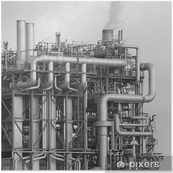 Plakat Rafinerii OMV - Budynki przemysłowe i handlowe