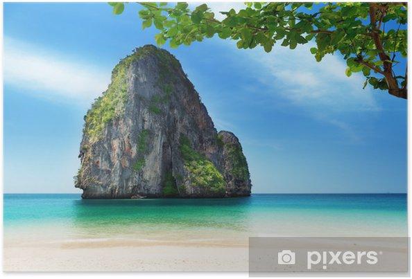 Plakat Railay w Krabi Tajlandii - Woda