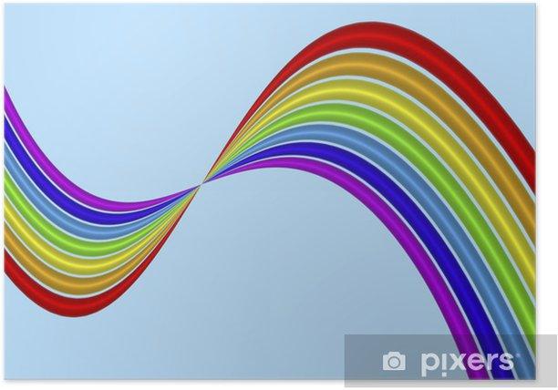 Plakat Rainbow Twist - Tła