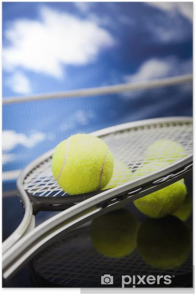 Plakat Rakieta tenisowa i piłki, sportu - Tenis