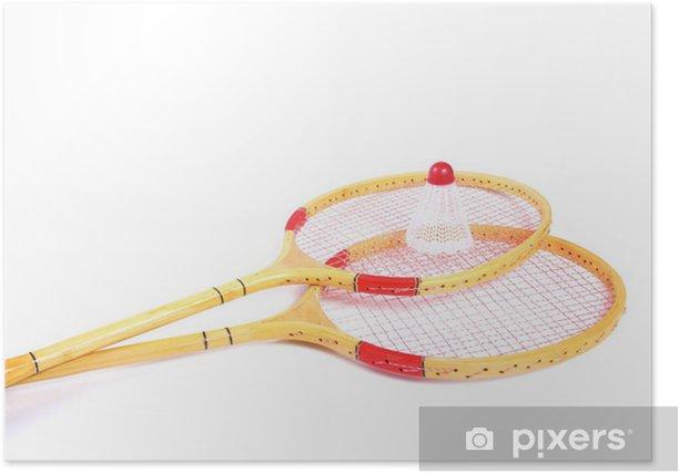 Plakat Rakiety do badmintona i Volan - Sporty na świeżym powietrzu