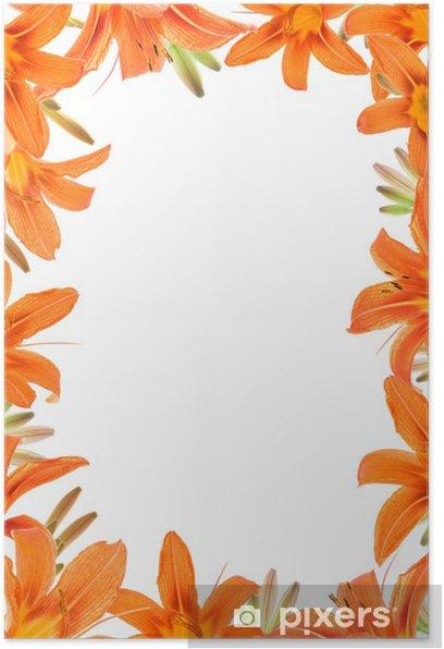 Plakát Rám Orange Lilly - Květiny