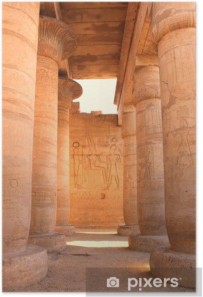 Plakat Ramesseum świątyni, Egipt - Afryka