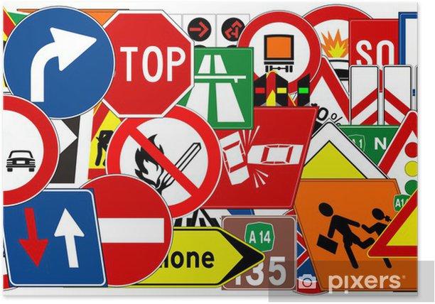 Plakat Ramowa z znaków drogowych - Znaki i symbole