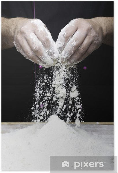 Plakat Ręce zrzucają mąki - Przemysł ciężki