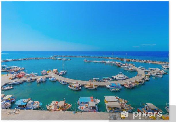 Plakát Řecko ostrov Santorini v Cyclades, krásné panoramatické - Evropa